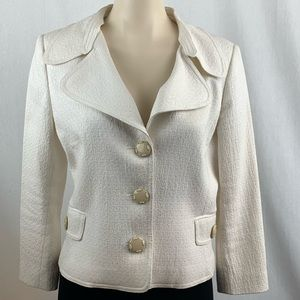 Dolce & Gabanna Cream Blazer with 3/4 Sleeves 44
